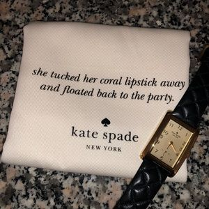 Kate Spade Cooper Grand Quilted Watch in Black